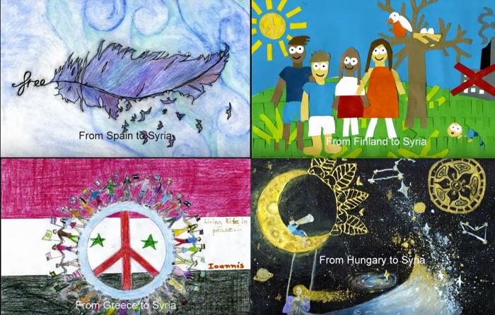 Art in All of Us connects European children with refugees